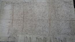 JEHAN POSSEL & MARGUERITE POSSEL Sa Fille.. Demeurant à DOUAY (DOUAI).parchemin : 40 X  22,8 Cm. 1509 - Documents Historiques