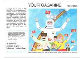 Buvard  N° 27  SANTE  SOBRIETE  Avec  Astronaute  YOURI  GAGARINE  1934 - 1968 - Collections, Lots & Séries