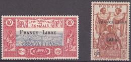 ⭐ Côte Des Somalis - YT N° 232 Et 233 ** - Neuf Sans Charnière - 1942 ⭐ - Ongebruikt