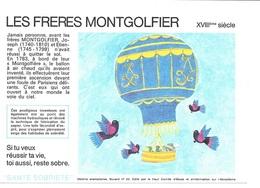Buvard  N°  23  SANTE  SOBRIETE  Avec  Constructeur  MONTGOLFIERE  LES  FRERES  MONTGOLFIER  XVII ème  Siècle - Collections, Lots & Series