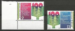 Belgium - 1986 Christian Trade Union MNH **    Sc 1261-2 - Belgium