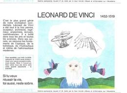 Buvard  N°  22  SANTE  SOBRIETE  Avec  Le  Peintre  LEONARD  DE  VINCI  1452 - 1519 - Collections, Lots & Séries