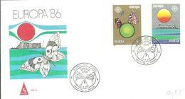 FDC MALTA 1986 - Vlinders