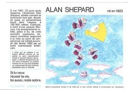 Buvard  N°  28  SANTE  SOBRIETE  Avec  Astronaute  ALAN  SHEPARD  Né  En  1923 - Collections, Lots & Séries