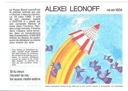 Buvard  N°  29  SANTE  SOBRIETE  Avec  Astronaute  ALEXEI  LEONOFF  Né  En  1934 - Buvards, Protège-cahiers Illustrés