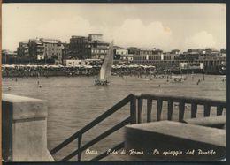 °°° 10611 - OSTIA - LIDO DI ROMA - LA SPIAGGIA DAL PONTILE - 1958 °°° - Italia