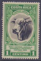 COSTA RICA :1950: Y.PA196 Dentelled/neuf/MNH : ## Feria Nacional Agricola, Cartago 1950 ## : AGRICULTURE,COW,VACHE, - Vaches