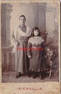 Photo Ancienne  Famille Juive Du Maroc Espagnole Photo A.cavilla Tangier Tanger  Judaica Judaisme Juif - Old (before 1900)