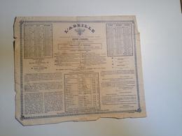 Calendrier Publicitaire , L'ABEILLE, 1872, 6 Mois Recto, 6mois  Verso - Calendars