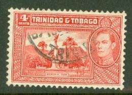 Trinidad & Tobago: 1938/44   KGVI     SG249a    4c  Scarlet     Used - Trinité & Tobago (...-1961)