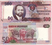 MOZAMBIQUE    500  Meticais    P153 Dated 16.06.2011      UNC - Mozambique