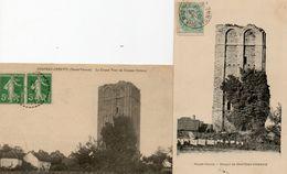 2 CPA CHATEAU CHERVIX. Grosse Tour De L'ancien Chateau, Donjon.  1905.1914. - Autres Communes