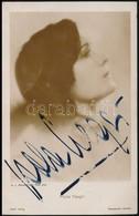 Cca 1920 Pola Negri (1987-1987) Lengyel Színésznő Aláírt Fotólapja / Autograph Signed Photo Card - Unclassified