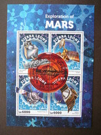 Mars Space. Raumfahrt. Espace # Sierra Leone # 2016 Used S/s # - Space