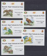 H61. MNH Burundi 2012 Nature Animals Birds Birds On Red List Imperf - Vogels