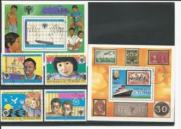 TCHAD  Scott 374-377, 378, C253 Yvert 366-368, BF28, BF29 (4+2blocs) O Cote 5,60$ 1979 - Tchad (1960-...)