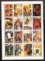 Ajman  -   1972.  Quadri Vita Di Gesù. Famous Paintings Life Of Christ. MNH : Rare! - Religione