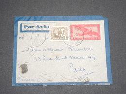 INDOCHINE - Entier Postal + Complément De Paklay ( Laos ) Pour Paris En 1939 Par Avion - L 13202 - Briefe U. Dokumente