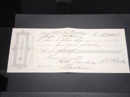 ALLEMAGNE - Lettre De Change De 5 Mark De Hamburg En 1907 , Fiscal Au Verso - L 13203 - Bills Of Exchange