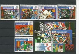 TCHAD  Scott 399-404, 405 Yvert 392-395, PA241-PA242, BF34 (6+bloc) ** Cote 11,30$ 1982 - Tchad (1960-...)