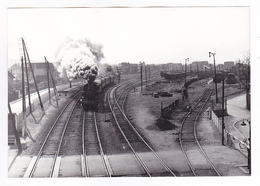 Ligne De Vincennes Entre Champigny Et La Varenne PHOTO Train Locomotive à Vapeur 131 TB 39 Le 8 Avril 1956 PN VOIR DOS - Trains