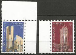 Belgium - 1987 Europa (architecture) MNH **    Sc 1268-9 - Belgium