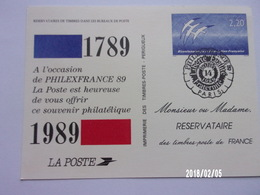 Philexfrance 1989 - Entiers Postaux