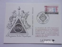 1792 An I De La République - Entiers Postaux