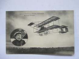 "ALFRED  FREY    SUR  BIPLAN  FARMAN           OFFERT PAR "" LE MATIN ""   TTB - Aviatori"
