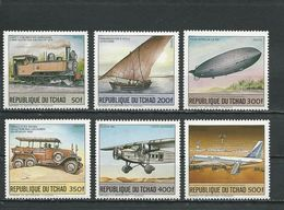 TCHAD  Scott 473-478 Yvert 450-453, PA283-PA284 (6) ** Cote 20,00$ 1984 - Tchad (1960-...)