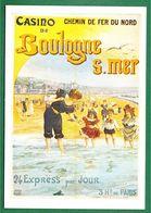 Repro Affiche - CHEMIN De FER Du NORD – BOULOGNE SUR MER – N° 3042 - Chemins De Fer