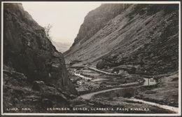 Cromlech Bridge, Llanberis Pass, Caernarvonshire, 1938 - AWH RP Postcard - Caernarvonshire