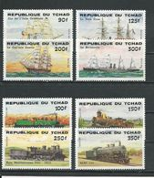 TCHAD  Scott 517-524 Yvert 456-463 (8) ** Cote 18,50$ 1984 - Tchad (1960-...)