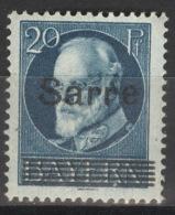 Saargebiet 21 ** Postfrisch - 1920-35 Saargebiet – Abstimmungsgebiet