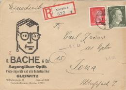 Deutsches Reich 794,827 Auf R-Brief Gleiwitz 4.1.45 - Deutschland