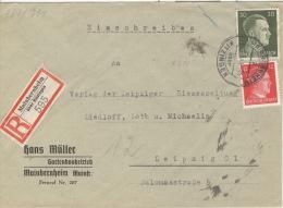 Deutsches Reich 794,827 Auf R-Brief Mainbernheim 9.3.44 - Deutschland