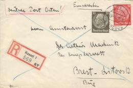 Deutsches Reich 519,523 Auf R-Brief Kassel 30.10.41 - Deutschland