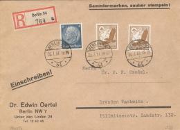 Deutsches Reich 514,2x533 Auf R-Brief Berlin 20.7.37 - Deutschland
