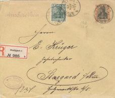 Deutsches Reich 85I,88I Auf R-Brief Stuttgart 22.11.12 - Deutschland