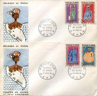 30414 Senegal, 2 Fdc  1966 Poupee De Goree,  Dolls  Puppen - Puppen