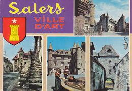 15   SALERS  VILLE D'A RT / MULTIVUES AVEC BLASON - France
