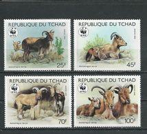 TCHAD  Scott 574-577 Yvert 507-510 (4) ** Cote 16,00$ 1988 - Tchad (1960-...)