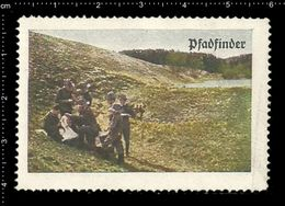 German Poster Stamp, Reklamemarke, Cinderella, Scout, Erkunden, Pfadfinder Aufstellung Stuttgart, Scout Posing Stuttgart - Scouting