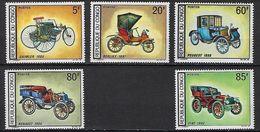 "Congo YT 220 à 224 "" Automobiles Anciennes "" 1968 Neuf* - Congo - Brazzaville"