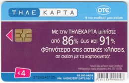 GREECE D-807 Chip OTE - Painting, Modern Art - Used - Greece