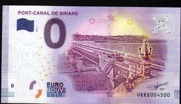 France - Billet Touristique 0 Euro 2018 N° 4500 (UEEE004500/5000) - PONT-CANAL DE BRIARE - EURO