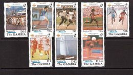 Gambia-1990,(Mi.1070-1077) ,Football, Soccer, Fussball,calcio,MNH, - Soccer