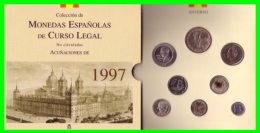 ESPAÑA COLECCIÓN CARTERA OFICIAL CON ESTUCHE FNMT AÑO 1997 ÚLTIMAS PESETAS 8 VALORES FDC (S/C) - Sets Sin Usar &  Sets De Prueba