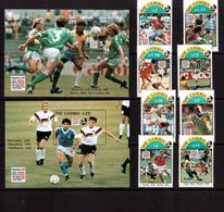 Gambia-1993,(Mi.1769-1776,Bl.211-212) ,Football, Soccer, Fussball,calcio,MNH, - 1994 – USA