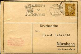 30424 Germany Reich Special Postmark 1930 Circuled Card,altenburg Die Skatstadt,kartenspiele,card Games,jeux De Cartes - Jeux